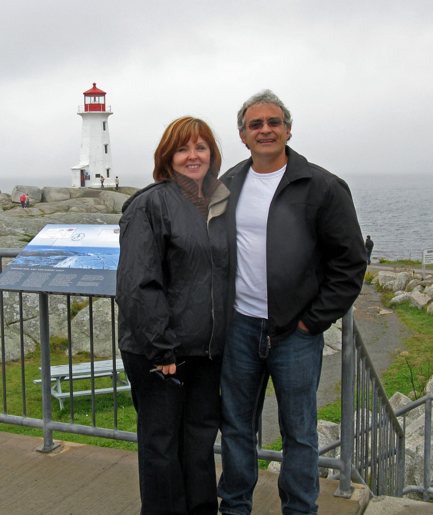 Janet and Danny at Peggy's Cove